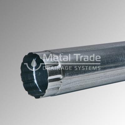 Водосточна тръба Ф 100 поцинкована 4м., 0,5 мм.