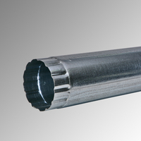 Водосточна тръба Ф 100 поцинкована 1м., 0,5 мм.