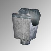 Казанче квадратно за американски олук Ф 100 RAL 8017